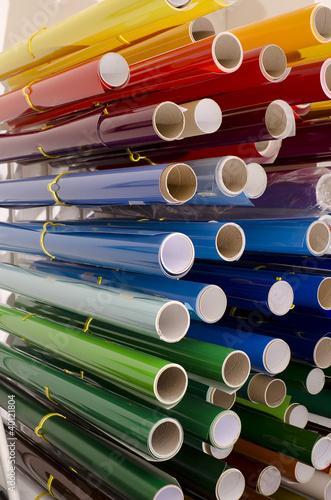 Werbetechnik Folienrollen auf Ständer - 40121804