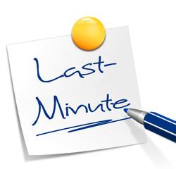 Notizzettel Last-Minute