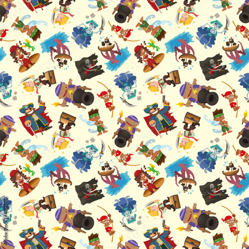 seamless pirate pattern