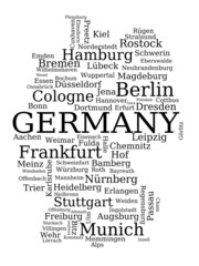 Germany city name map