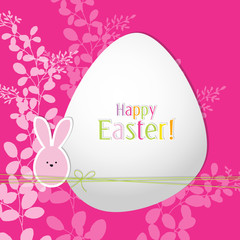 Easter greeting card with copy space