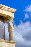 One of the Caryatids of the Erechtheum temple, Acropolis, Athens poster