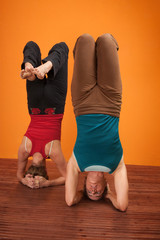 Women in Headstands