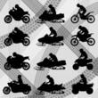 All terrain vehicle motorbike riders vector