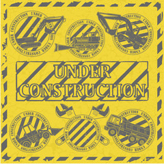Set under construction stamp