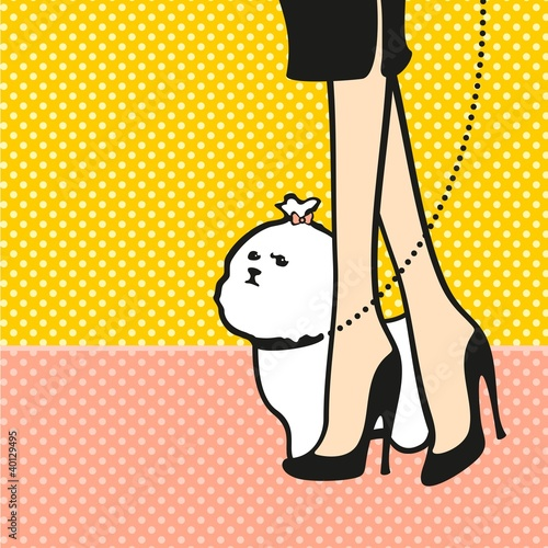 Lady and her dog - 40129495
