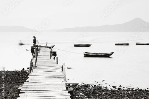 Fototapeten,abstrakt,herbst,hintergrund,boot