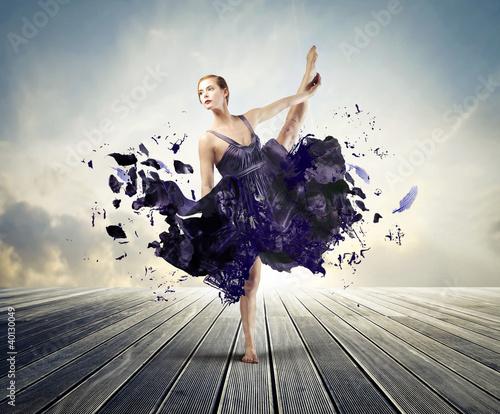 Obraz na płótnie Kreatywne balet