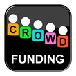 Glossy Button schwarz - Crowdfunding