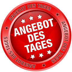 "Button ""Angebot des Tages"" rot"
