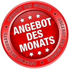 "Button ""Angebot des Monats"" rot"