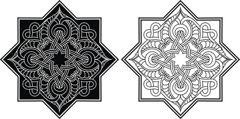Arabic  ornament of Vector, illustration,pattern,