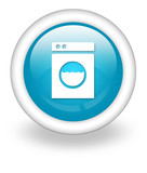 "Light Blue Icon ""Laundromat"""