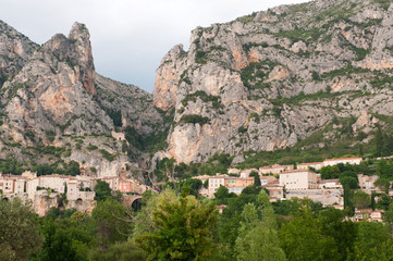 Moustiers Saint Marie in France