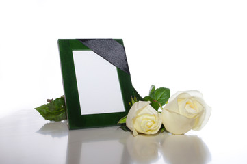 green frame for the photo