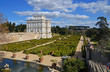 panorama of beautiful villa pamphili with italian garden in rome