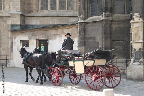 Fiaker vor dem Stephansdom in Wien