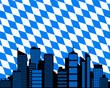 City und Fahne von Bayern