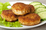 Meat patties with vegetables