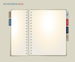 Spiral Notebook Blog or Web Site Template
