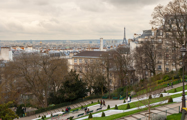 View from the hill of Monmartre