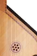 Retro bandura- Ukrainian musical instrument close up, isolated