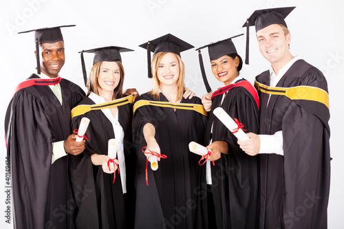 group of multicultural university graduates portrait