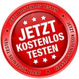 """Button """"Jetzt kostenlos testen"""" rot"""