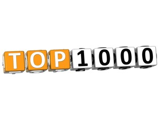 3D Ranking Top 1000 Cube text