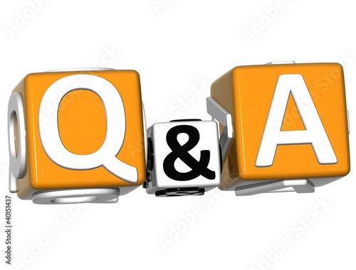 3D Question & Answer on white background