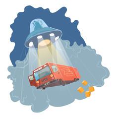 UFO kidnapping illustration