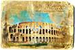 Colosseum vintage card postal