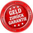 """Button """"Geld zurück Garantie"""" rot"""