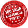 """Button """"100 Tage kostenlos testen"""" rot"""