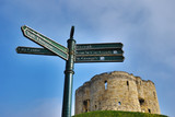 Signpost And Cliffords Tower