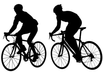 Two cyclist mans