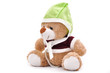 Cute teddy bear with on white background