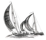 Fototapete Führung - Wind - Segelboot