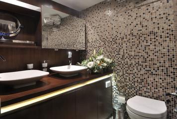toilet of luxury sailboat