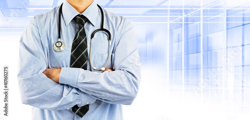 doctor wearing shirt tie