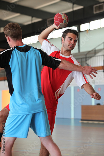 handball players in action