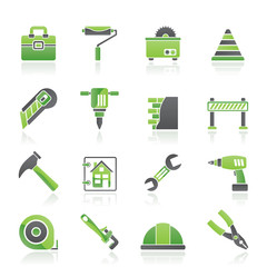 Construction and building Icons - vector icon set
