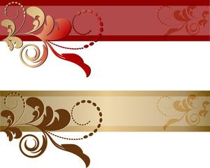Banner con ornamento