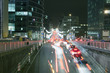 Night traffic and busy nightlife in Brussels