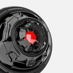 Glossy black web cam