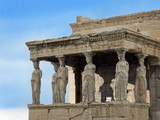 Porch of Maidens- Caryatids from Erechtheion- Acropolis poster