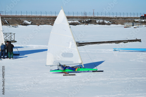 Racing Ice Boat