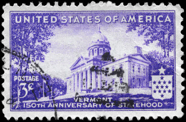 USA - CIRCA 1941 Vermont Statehood
