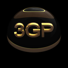3D Style file format icon - 3GP