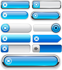 Cross high-detailed web button collection.